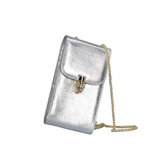 litchi pelle Bag Tote in diagonale borsetta Slive di Cross Borsa catena qpft5xpR