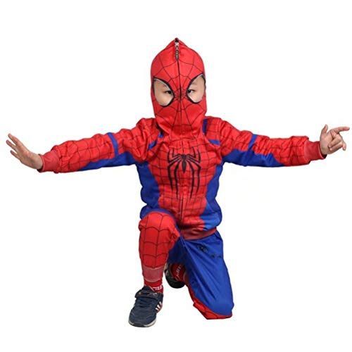 Tsyllyp Kids Boys Full-Zip Up Hoodies Pants Set Spider Miles Costume Cosplay -
