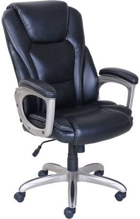 Serta Big Tall Commercial Office Chair with Memory Foam Black