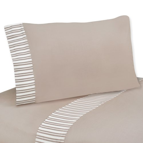 Sweet Jojo Designs 3 pc Twin Sheet Set for Giraffe Neutral Bedding Collection
