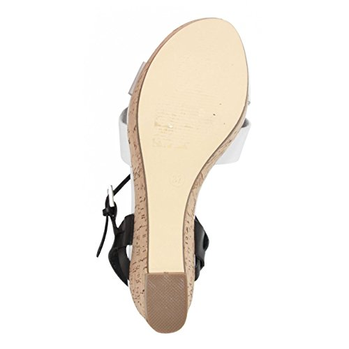 Sandali per Donna MTNG 58255 VACHE BLANCO-NEGRO
