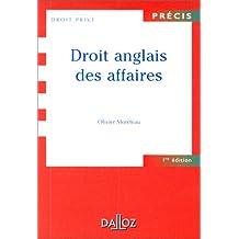 DROIT ANGLAIS DES AFFAIRES 1ERE EDITION