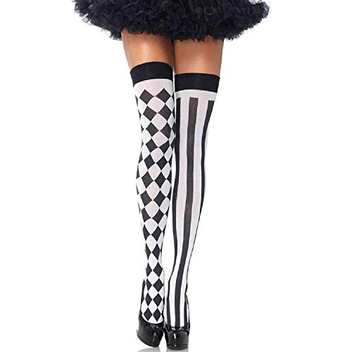 Leg Avenue Womens Harlequin Thigh Highs