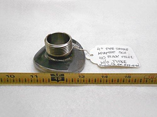 "AFAB Enterprises 4"" Pipe Saddle Adapter, SCH 40 Black Steel"