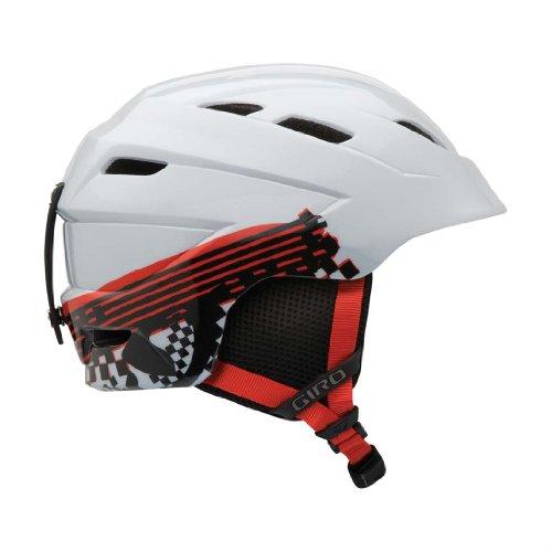 Giro Nine.10 Jr Helmet - Giro Youth Nine.10 Jr Snow Helmet (White Logo Streak, Small)