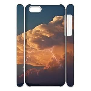 LIGHTNING CHA6052883 3D Art Print Design Phone Back Case Customized Hard Shell Protection Iphone 5C