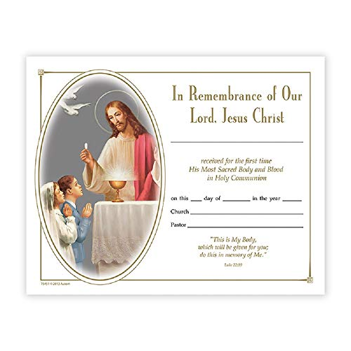 Heavenly Feast First Communion Certificate - 100/pk