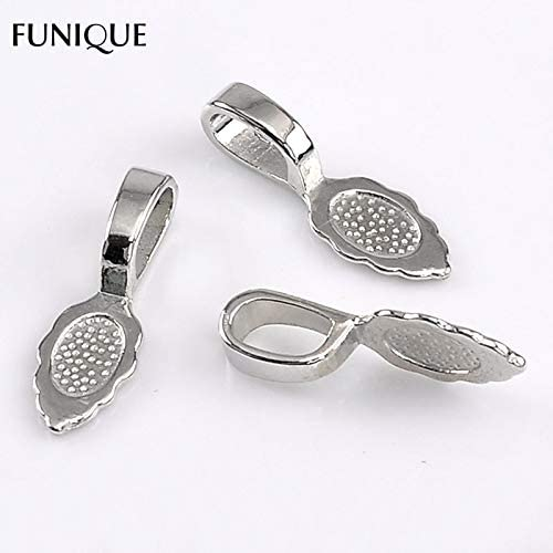 20 Antique Silver Metal Leaf Charms Pendants 18 x 8mm Jewellery Making