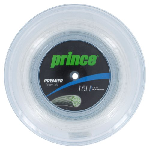 Prince 7J921-110R Premier Touch 15L 330 Feet Tennis String Reel Clear (Prince Gut Natural)