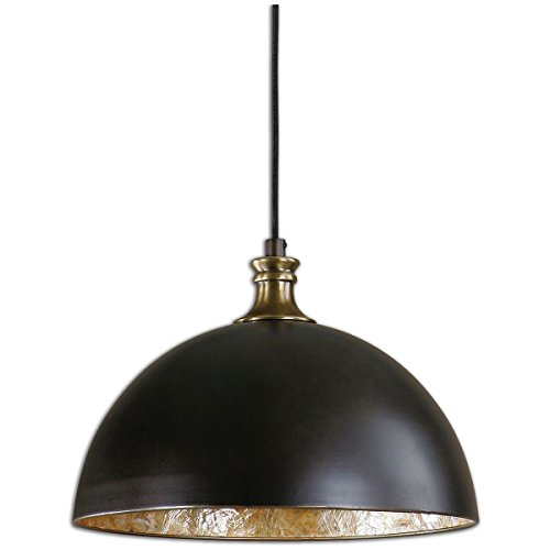 Uttermost 22028 Placuna 1 Light Pendant, Bronze (Capiz Light Pendant)