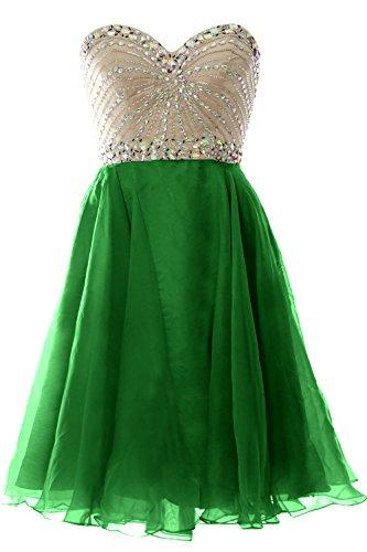 Party Gown Wedding Chiffon Women Short Strapless 2016 Dress Green Formal MACloth Prom wRF8aq