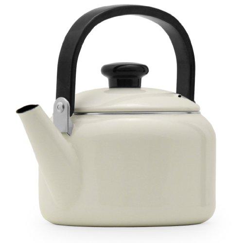 Farberware Victoria Kettle, 2-Quart, White - Porcelain Enamel Tea Kettle