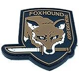 Foxhound Grupo Fuerza Especial Metal Gear Solid Airsoft Velcro PVC Parche Marrón