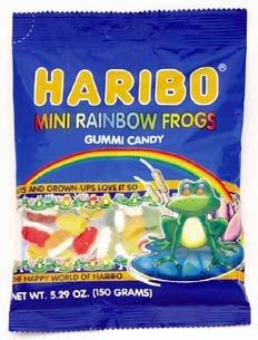 Haribo Gummi Mini Rainbow Frogs Bags - 12 / Box ()