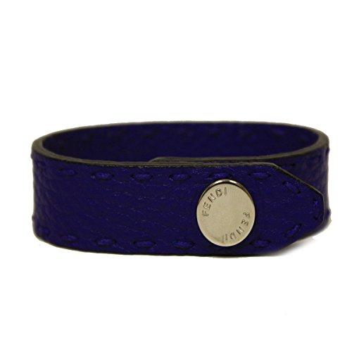 Fendi Royal Blue Neon Leather Snap Bracelet 7AJ043