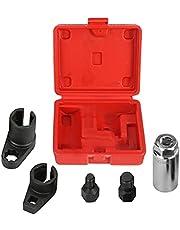 Oxygen Sensor Wrench Remove/Install Oxygen Sensor o2 Sensor Socket Set Prevents Damage to Wires/Sensor Oxygen Sensor Socket Maximum Torque Thread Chaser Set 5Pcs Automotive Tools for Most Vehicles