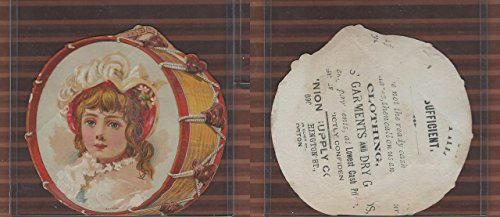 Victorian Card, 1890's, Union Supply, Boston, Drun Shape, Girl ()