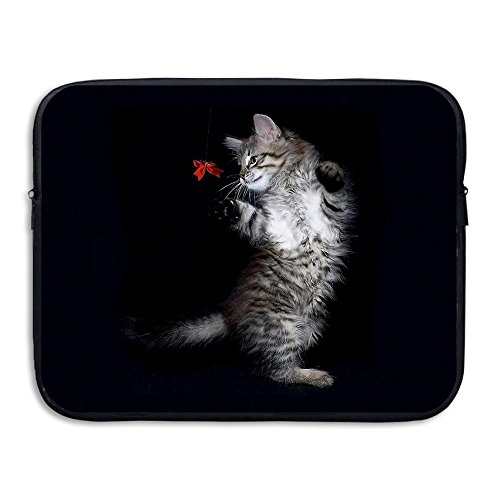 Reteone Laptop Sleeve Bag Cute Black Cat Fun Cover Computer Liner Package Protective Case Waterproof Computer Portable Bags]()