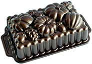 Nordic Ware Harvest Bounty Loaf Pan, One Size, Bronze