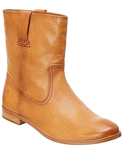 FRYE Womens Anna Short Closed Toe Mid-Calf Cowboy Boots, Camel, Size 8.0