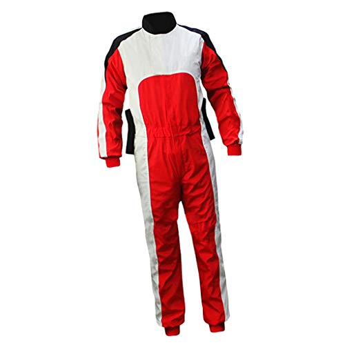 SM SunniMix Men's Skydiving Flight Suit Comfortable Breathable Windproof Jumpsuit - Red, M ()