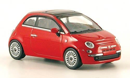 Fiat 500 Modellauto 2007 rot Minichamps 1:64 Fertigmodell