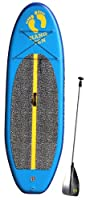 Hang Ten Inflatable SUP, Blue/Yellow, 8-Feet by Division 6 Sports Inc.