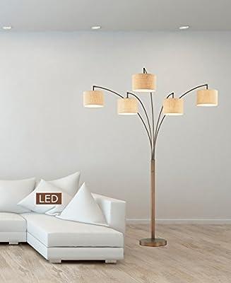"Artiva USA LED602805FBZ 83"" LED Arched Floor Lamp with Dimmer 5000 Lumens, 83"", Antique Bronze"