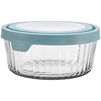 Amazoncom Anchor Hocking TrueSeal Embossed Glass Food Storage