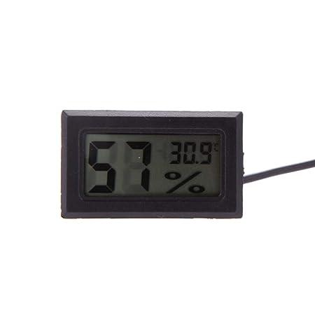 Fangfeen Mini LCD Digital de Interior casero termómetro y ...