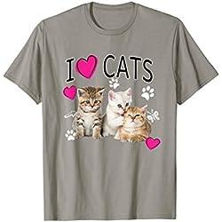 I Love Cats Shirt | Cat lover - I love Kittens T-shirt Gift