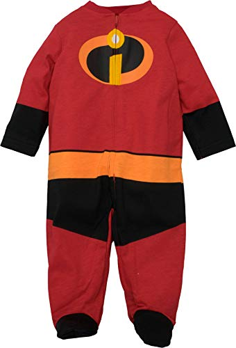 Disney Pixar The Incredibles Baby Boy Girl Costume Coverall Footies 0-3 Months -