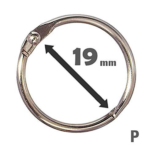 Argola Articulada 19Mm (1,9 Cm) - P C/ 10 Unidades