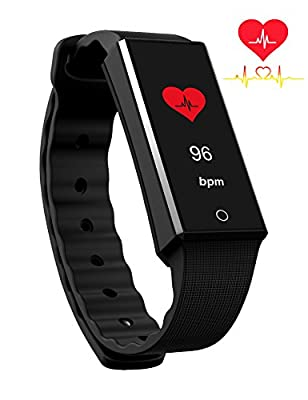 BitHealth Z4 Smart Bracelet With Heart Rate Monitor, Fitness Tracker, Smart Wristband. Color Display. Activity/Exercise/Heart Rate/Sleep Smartband. Continuous Heart Rate Monitor. Notification Receive.