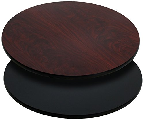 Flash Furniture 2 Pk. 36'' Round Table Top with Black or Mahogany Reversible Laminate Top