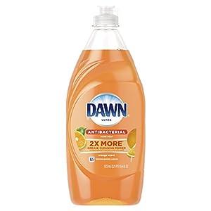 Dawn Ultra Antibacterial Hand Soap, Dishwashing Liquid Dish Soap Orange 19.4 oz