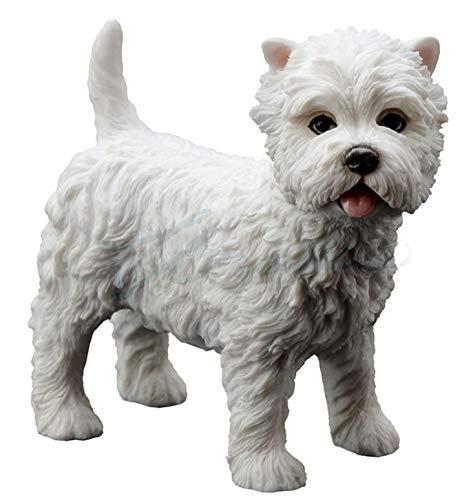 3.5 Inch West Highland White Terrier Statue Dog - Highland West Terrier Dog Figurine