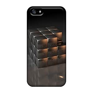 Tpu Fashionable Design 3d Box Rugged Case Cover For Iphone 5/5s New