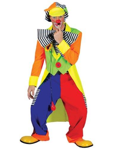 Spanky Stripes Clown Adult Costume Size Standard