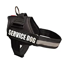 Fairwin Dog Service Vest, Help Dog Vest Easy Walk Harness Reflective with Patches No Pull For Large Medium Small Dogs (S : Fits Girth 16-21in ,Black )