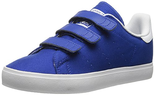 adidas Originals Stan Smith Vulc CF C Tennis Shoe (Little Kid), Collegiate Royal/Collegiate Royal/White, 2.5 M US Little Kid