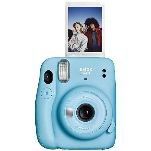 Fujifilm Instax Mini 11 Instant Camera – Sky Blue, 4.8″ x 4.2″ x 2.6″, Camera Only