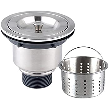sink kitchen sink strainer with removable deep waste basket by aulifedrain strainer steel - Kitchen Sink Drain