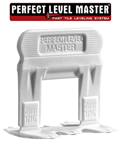 T-Lock ™ 1/16'' (2mm) 1500 Clips '' PERFECT LEVEL MASTER ™ Professional '' Anti lippage '' Tile leveling system - (spacers only), Red wedges not included and sold separately! by Perfect Level Master ™