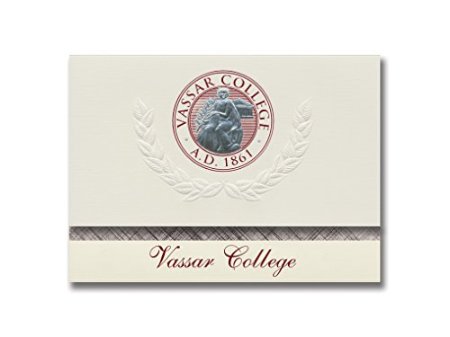 Signature Announcements Vassar College Graduation Announcements, Platinum style, Basic Pack 20 with Vassar College Seal Foil