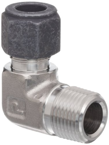 Ss Elbow (Parker CPI 6-6 CBZ-SS 316 Stainless Steel Compression Tube Fitting, 90 Degree Elbow, 3/8