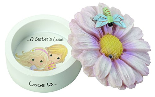 Precious Moments, Love Is A Sister's Love Daisy Resin Trinket Box, 154434