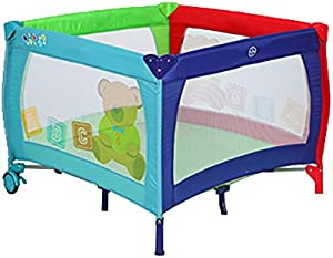YYHSND Foldable Multi-Function Wheel Children's Bed Removable Baby Toy Pen Crib Cradle Bed 100×77cm Child Protection (Color : A)