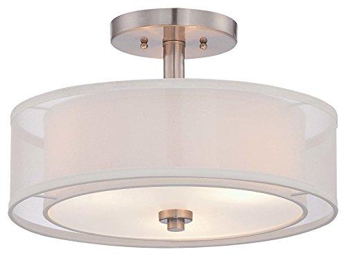 Minka Lavery 4107-84 3-Light Parsons Studio Semi Flush, Brus