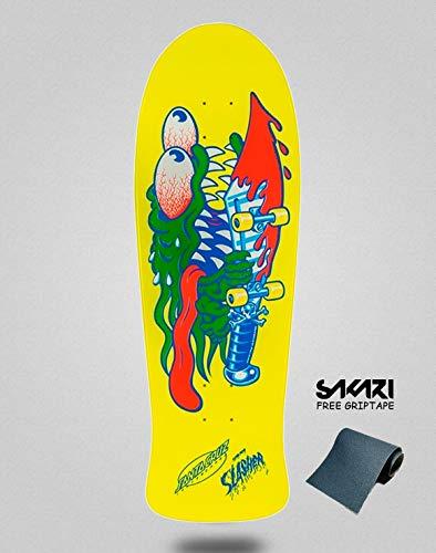 lordofbrands Santa Cruz Slasher 10.1 X 31.13 Yellow monopatin Skate Skateboard Deck